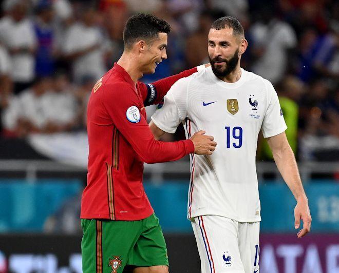 """C・ロナウドとベンゼマが2発!""""前回決勝の再戦""""はドロー。フランスが首位、ポルトガルが3位でベスト16へ【EURO】"""