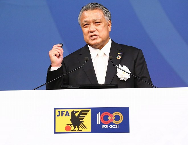 JFAが創立100周年の記念式典を開催。田嶋会長「100年の歴史を辿ると、あっという間」