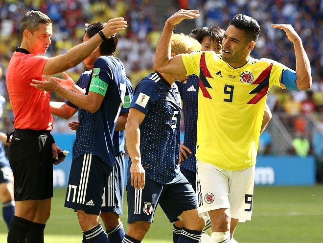 """コロンビアの主砲ファルカオ、""""試合巧者""""西野ジャパンを称賛! 「日本はどうしたら勝てるかを知っていた」"""