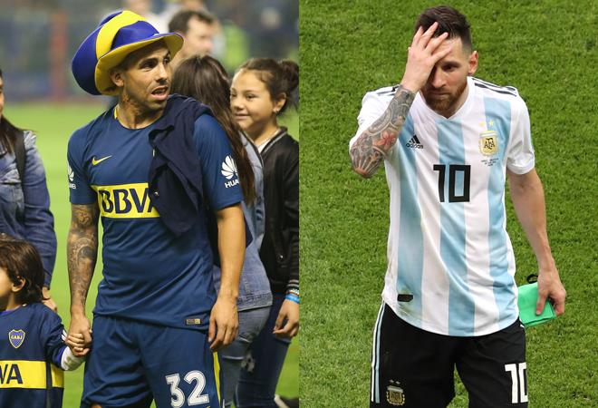 """「同じアルゼンチン人として言わせてくれ…」テベスが代表引退も噂される""""後輩""""メッシに熱きメッセージ"""