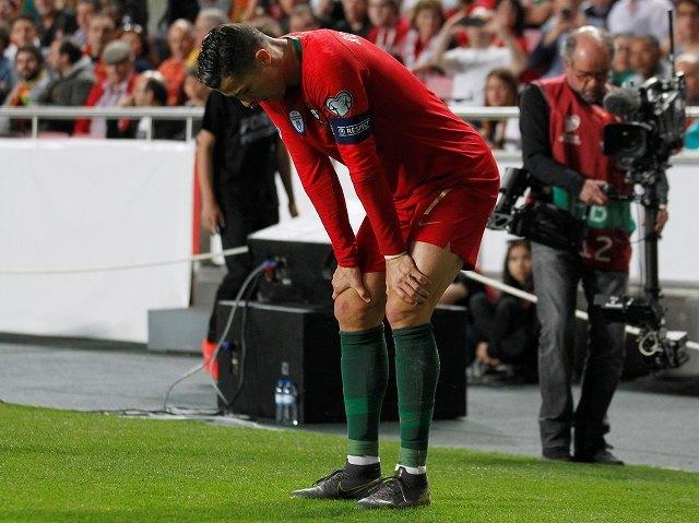 C・ロナウド、前半途中で負傷退場…決定力を欠いたポルトガルはEURO予選ホーム2連戦で勝利を奪えず