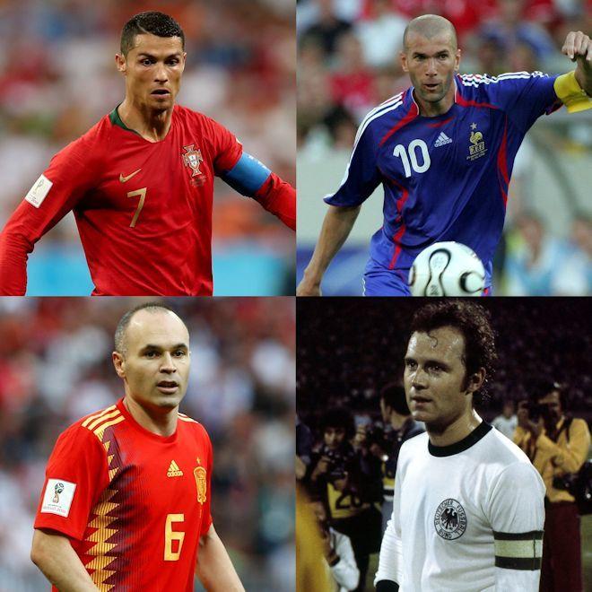 現地ファンが投票した各国の「史上最高の選手」にイニエスタが選出!アルゼンチン、ブラジルで選ばれたのは?