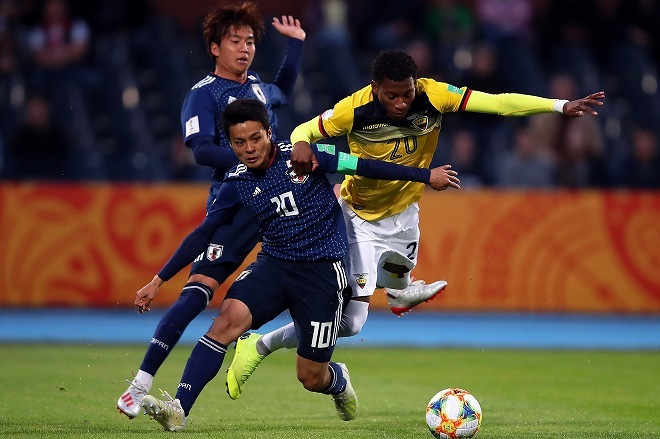 U-20W杯は引き分けスタート!南米王者のエクアドルに1-1。次戦はグループ最下位のメキシコと対戦