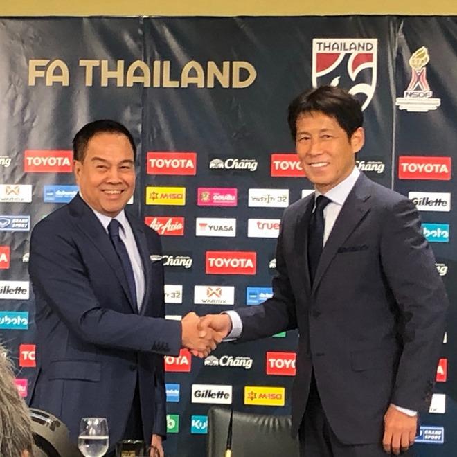「東南アジアのリーダーになる!」「いまは幸せ感を…」タイ代表新監督に就任した西野朗氏が饒舌に決意表明!
