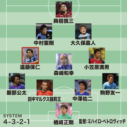 佐藤寿人が選ぶJ歴代ベスト11「華麗で、闘えて、走れるメンバー。中盤でより評価されるべきは…」