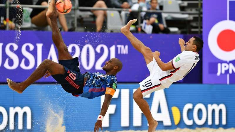 W杯を戦うビーチサッカー日本代表、アメリカに勝利し準々決勝進出