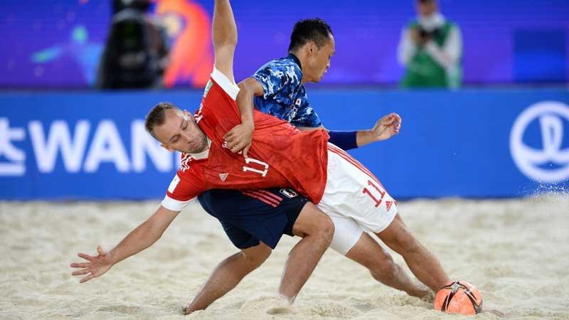 開催国ロシアに完敗、ビーチサッカー日本代表は2位通過で決勝トーナメントへ