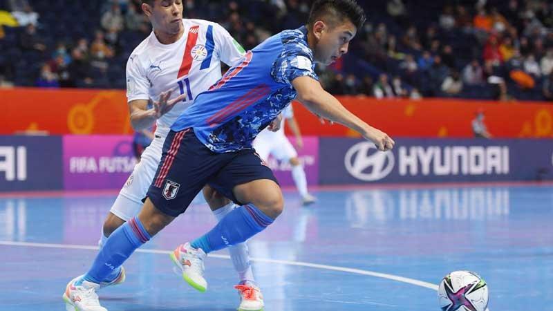 パラグアイに逆転負けのフットサル日本代表、グループ3位で決勝T進出