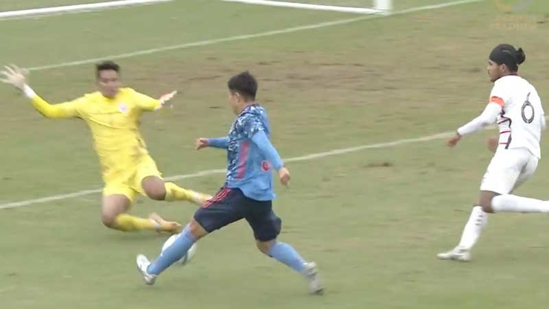 【AFC U-23アジアカップ2022予選 ハイライト】高校生、大学生、プロが入り混じるU-22日本代表が躍動、カンボジア代表に4-0完勝