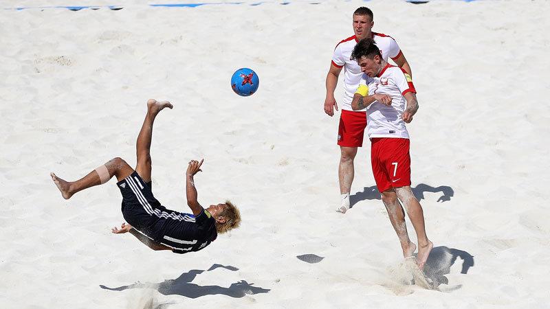 ビーチ日本代表、W杯初戦・ポーランド戦は後藤の5ゴール含む9得点で快勝