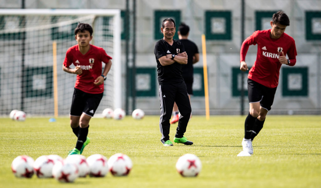 U-20日本代表、南アフリカ戦前日会見&練習 初瀬、冨安、久保コメント