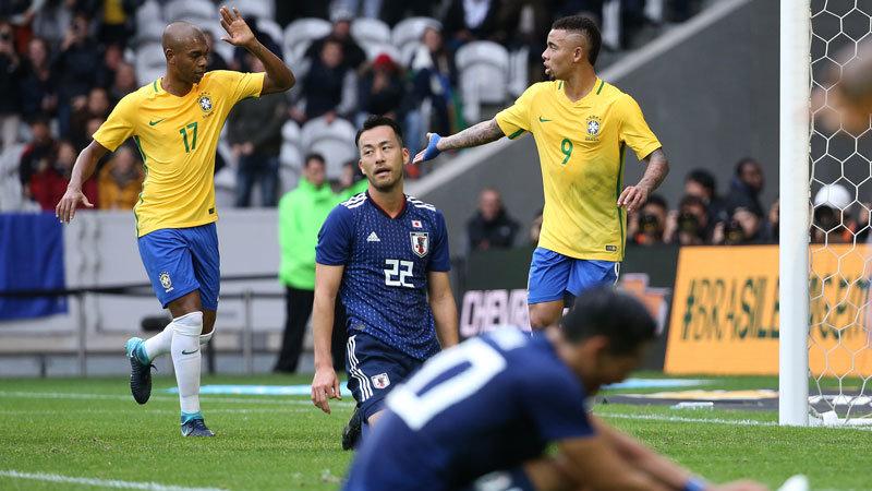 【ハイライト動画】本気のブラジルに何も出来ず...ハリルジャパン、前半でなす術無く3失点完敗