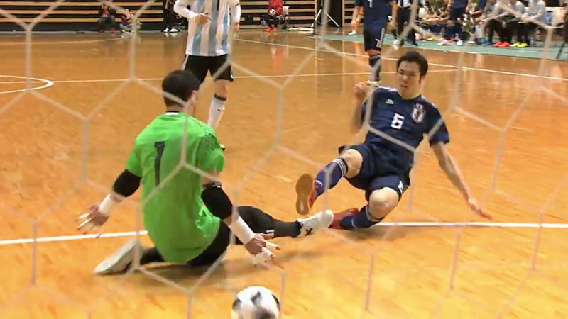 【ハイライト動画】フットサル日本代表、W杯王者アルゼンチンに対して4失点敗戦も、2点を返し意地見せる