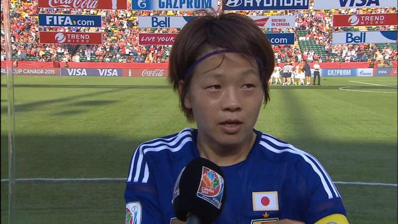 「五輪で金メダルを持って行かれているので、W杯は渡さない」