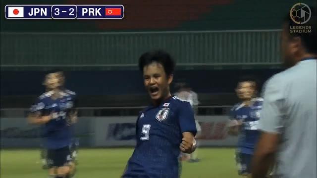 2大会連続のU-20W杯の出場権獲得目指すU-19日本代表が初戦・北朝鮮戦に勝利