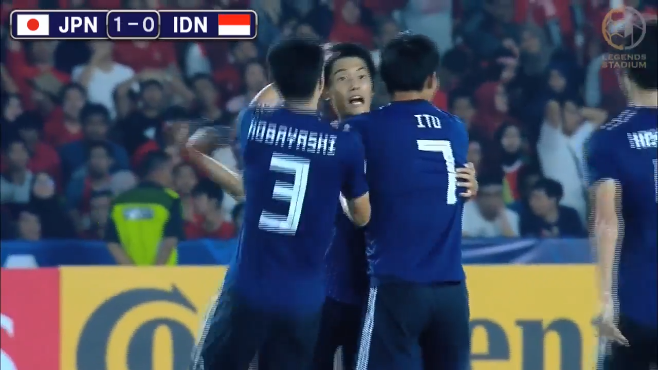 来年のU-20W杯出場権獲得!U-19日本代表、6万人超の完全アウェイ&豪雨の中でインドネシアを完封