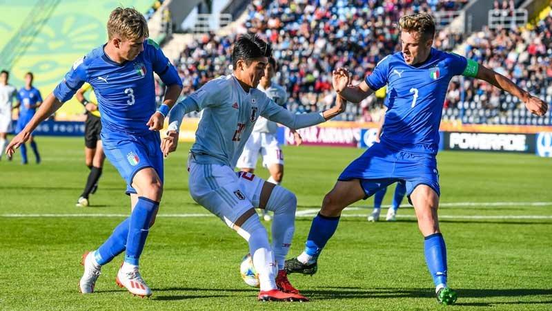 U-20W杯グループリーグ、日本代表は強豪・イタリアと引き分け2位通過を決める