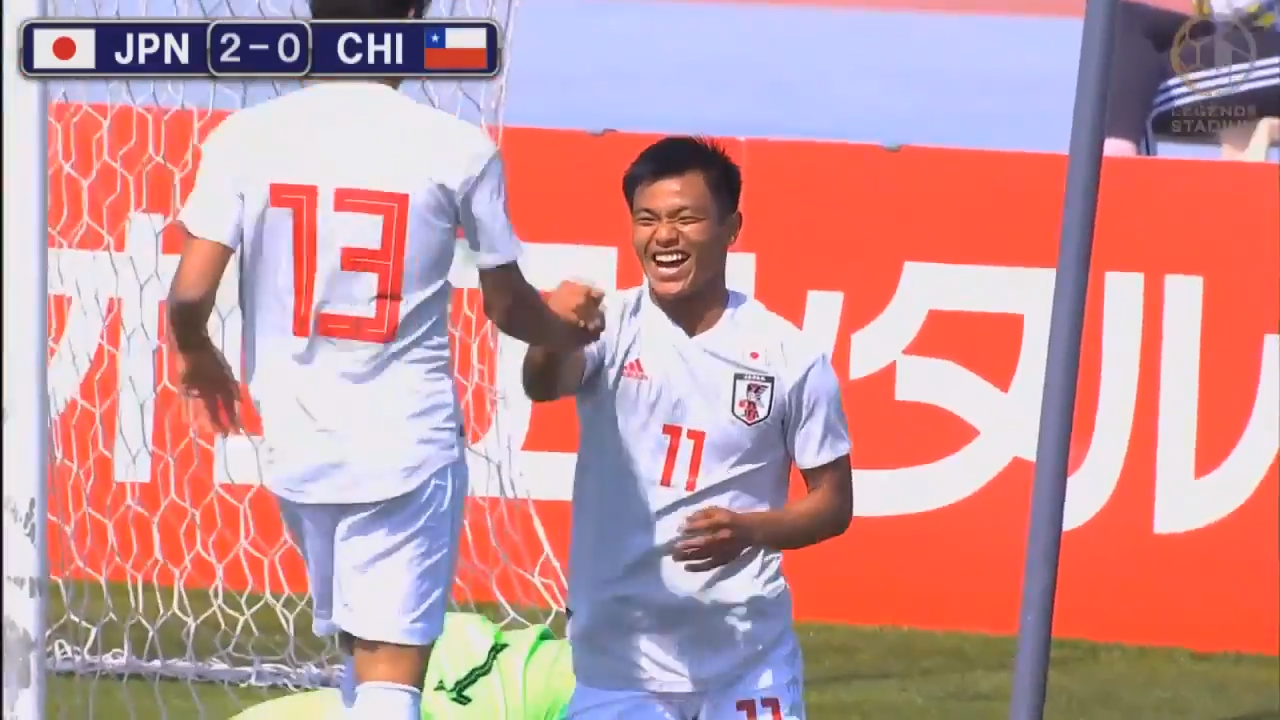 旗手怜央がハットトリック!U-22日本代表がチリに6-1の大勝、準決勝進出に大きく前進