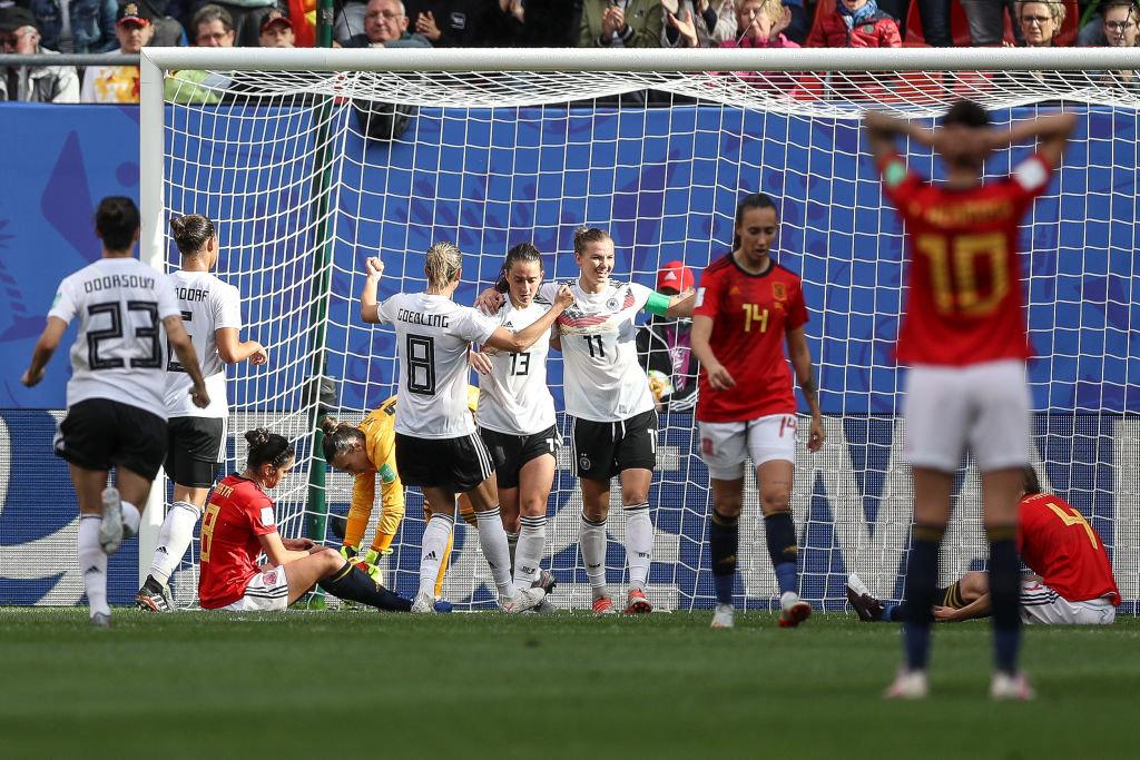ドイツvsスペインの一戦は、ドイツが制す。2連勝でB組首位キープ【FIFA 女子ワールドカップ - グループB第2節 ハイライト動画】