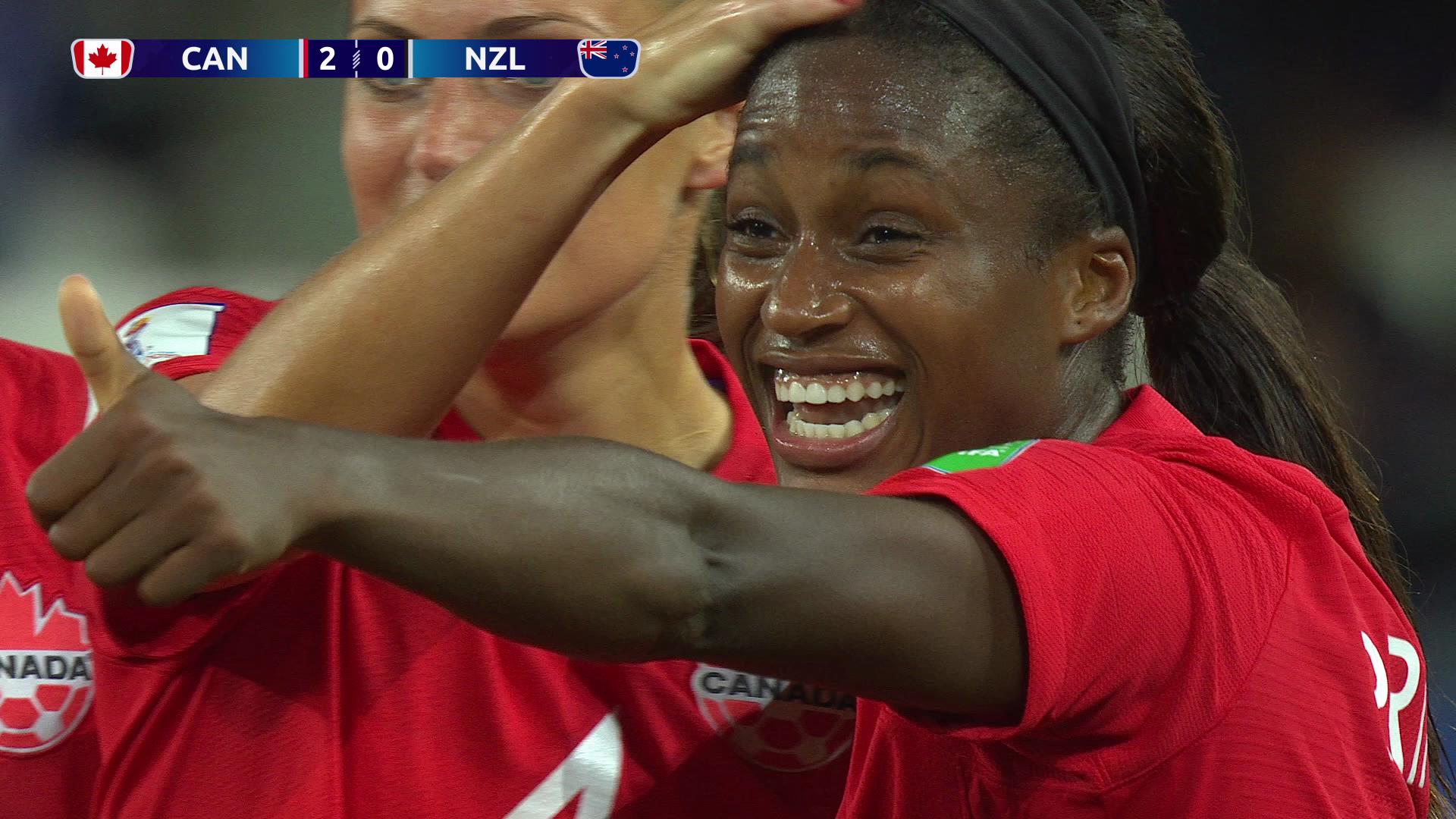 カナダ、ニュージーランドを完封。2戦連続無失点で決勝T進出【FIFA 女子ワールドカップ - グループE第2節 ハイライト動画】