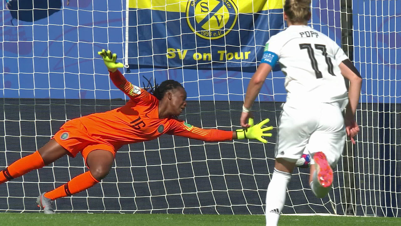 前回大会ベスト4の強豪ドイツ、ナイジェリアに3-0で快勝しベスト8へ【FIFA 女子ワールドカップ - ラウンド16 ハイライト動画】