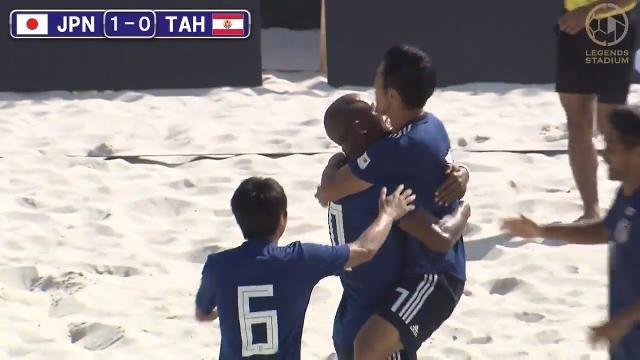 ラモス瑠偉率いるビーチサッカー日本代表が終盤、怒涛の追い上げでタヒチ代表にPK戦勝利