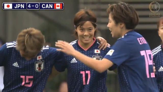 東京五輪に向けて再起動したなでしこジャパン、格上カナダ女子代表を4ー0で一蹴