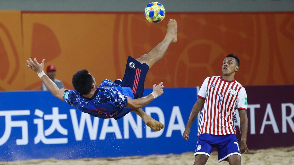 ビーチサッカー日本代表、終了間際に赤熊卓弥の劇的勝ち越し弾で開催国パラグアイを撃破