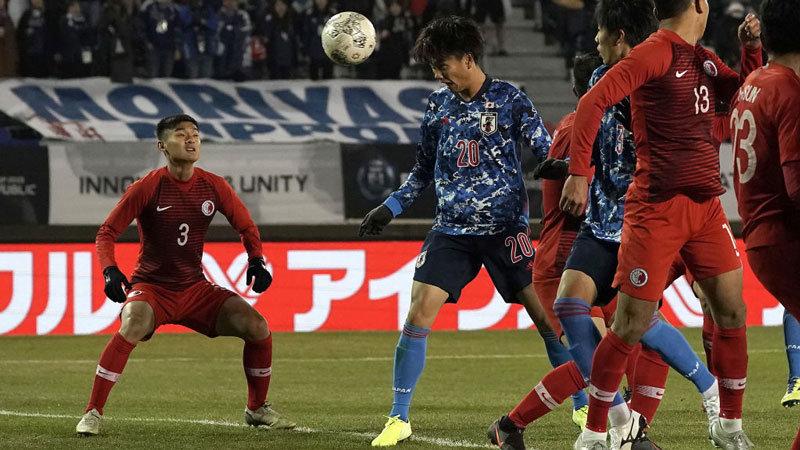 代表デビューのFW小川航基がハットトリック!森保ジャパンが5得点で香港を一蹴、E-1優勝に向けて大きく前進