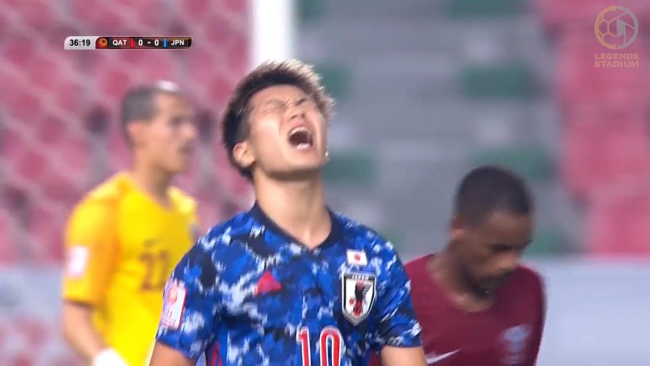 U23日本代表、小川航基のゴールで先制するも不運なジャッジに泣かされカタールとドロー【AFC U23アジア選手権 2020 ハイライト動画】